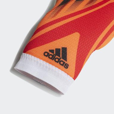 Kids Football Orange X Training Goalkeeper Gloves