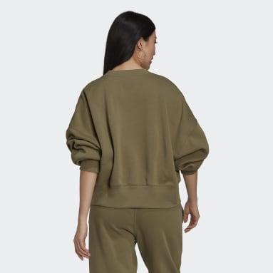 Sweat-shirt Adicolor Essentials Fleece Vert Femmes Originals