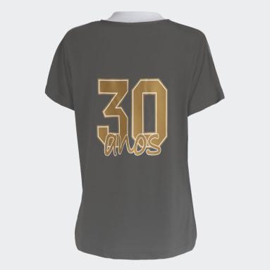 Camisa Internacional 30 anos da Copa Feminina Cinza Mulher Futebol