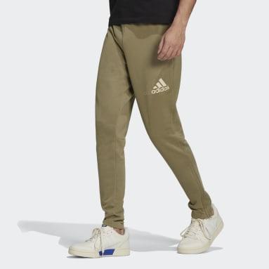Pants Essentials Logo Verde Hombre Diseño Deportivo