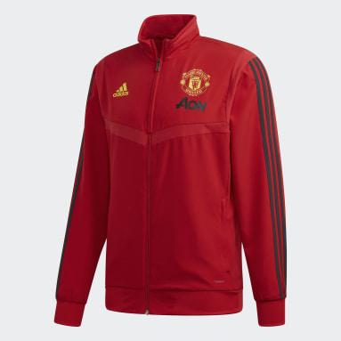 Chaqueta presentación Manchester United Rojo Hombre Fútbol
