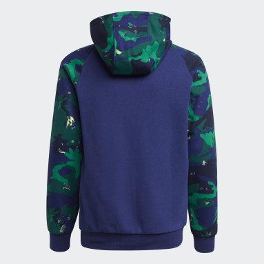 Boys Originals Blå Camo-Print hættetrøje