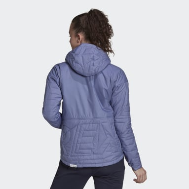 Women TERREX Purple Terrex MYSHELTER Primaloft Hooded Padded Jacket