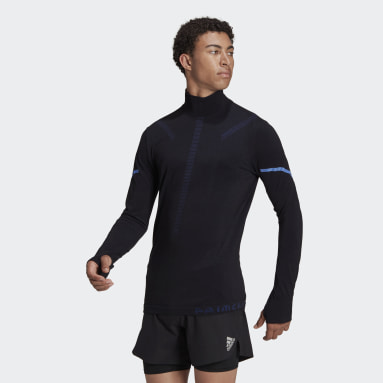 Männer Running adidas Primeknit Running Midlayer Oberteil Schwarz