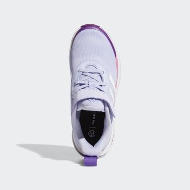 Kids Running Purple FortaRun Elastic Lace Top Strap Running Shoes