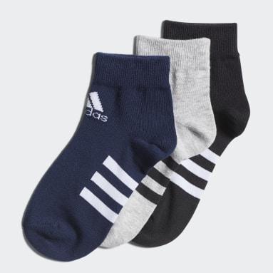 Kids Training Grey Ankle Socks 3 Pairs