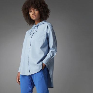 Women Originals Blue Blue Version Oversize Long-sleeve Top