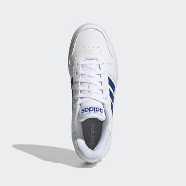 Men Sport Inspired White Hoops 2.0 Shoes