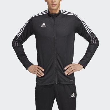 Mænd Fodbold Sort Tiro 21 træningsjakke