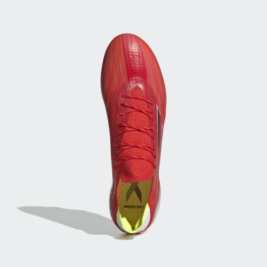 Zapatos de fútbol X Speedflow.1 Terreno Firme Rojo Fútbol