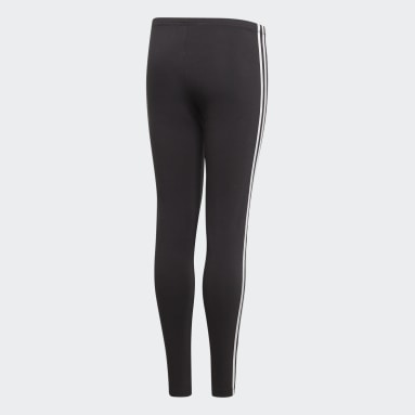 Girls Originals Black 3-Stripes Leggings