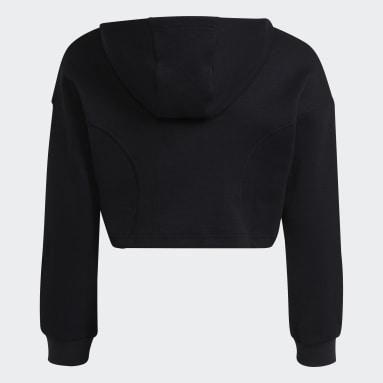 Sudadera con capucha XFG Regular Cropped Negro Niña Gimnasio Y Entrenamiento