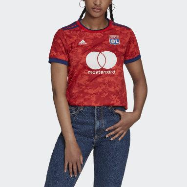 Women Football Red Olympique Lyonnais 21/22 Away Jersey