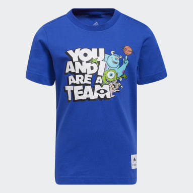 T-shirt Little Kids You and I Are a Team Blu Bambini Basket