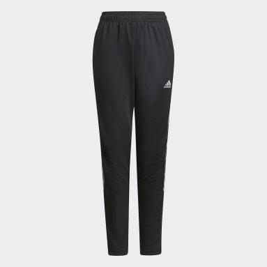 Boys Football Black Tiro Reflective Track Pants