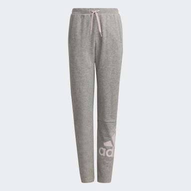 Pantalon adidas Essentials French Terry Gris Filles Sportswear
