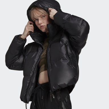 черный Укороченая куртка adidas by Stella McCartney