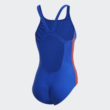 Dam Simning Blå adidas SH3.RO Tapered Swimsuit