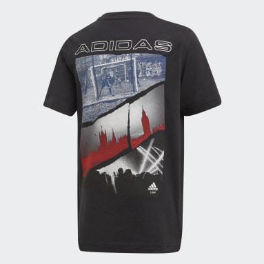 T-shirt adidas London Noir Garçons Fitness Et Training