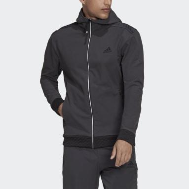 серый Худи adidas Z.N.E. Sportswear COLD.RDY