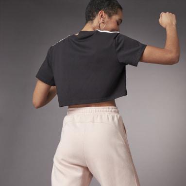 Women's Training Black Hyperglam Cropped Tee