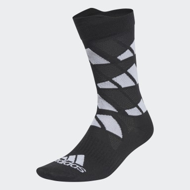 Training Black Ultralight Allover Graphic Crew Performance Socks