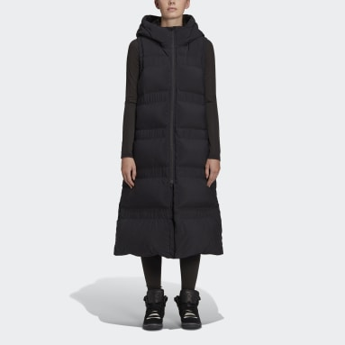 Chaleco de plumón Classic Puffy Long Y-3 Negro Mujer Y-3