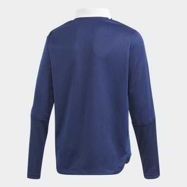 Børn Fodbold Blå Tiro 21 Training sweatshirt