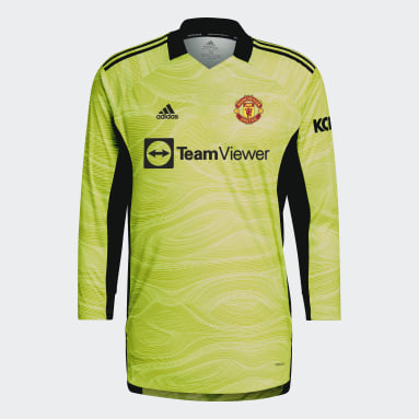 Voetbal Geel Manchester United 21/22 Keepersshirt Thuis