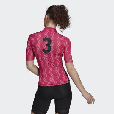 Maillot The Short Sleeve Cycling Graphic Rose Femmes Cyclisme