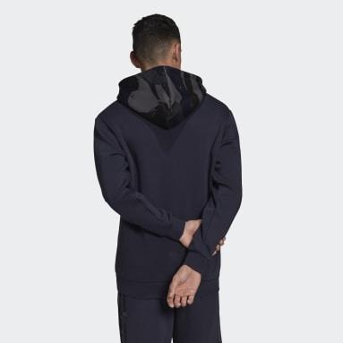 Mænd Originals Blå Camo Graphic hættetrøje