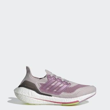 Dames Hardlopen Paars Ultraboost 21 Schoenen