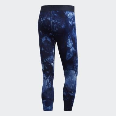 Men's Yoga Blue Alphaskin Parley 3/4 Tights