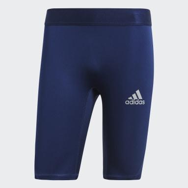 Licras Cortas Alphaskin Sport Azul Hombre Fútbol