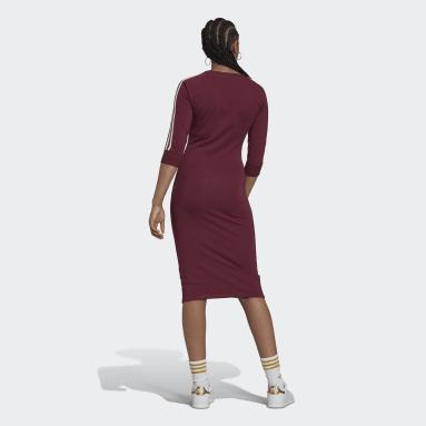 Ženy Originals červená Šaty Adicolor Classics