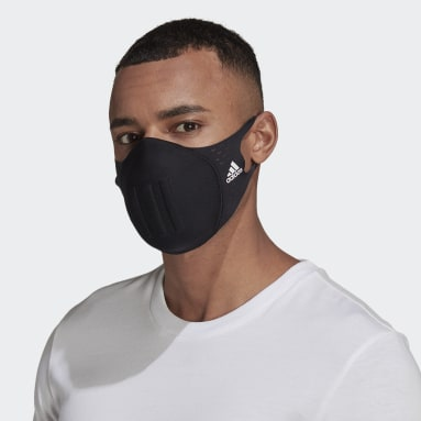 Essentials Black Molded Face Cover Made for Sport (not for medical use).