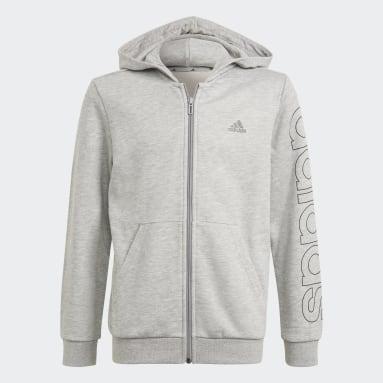 Casaco com Capuz Essentials Cinzento Rapazes Sportswear