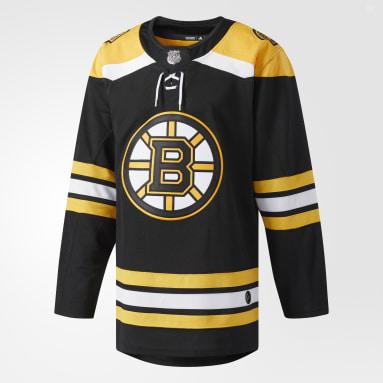 Maillot Bruins Domicile Authentique Pro noir Hockey