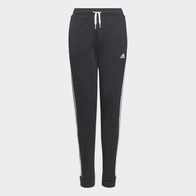 Pantaloni adidas Essentials 3-Stripes French Terry Nero Ragazza Sportswear