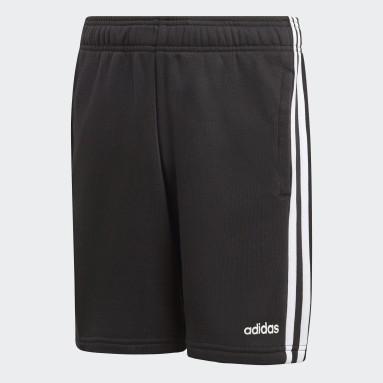 Boys Sportswear Black Essentials 3-Stripes Knit Shorts