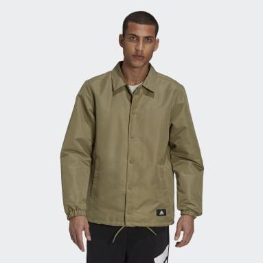 Men Sport Inspired Green adidas Sportswear Future Icons Coach Jacket