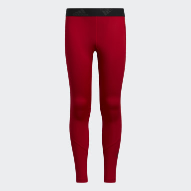 Youth Training Red Techfit Tights