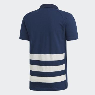 Heren Handbal Blauw Franse Handbalbond Poloshirt