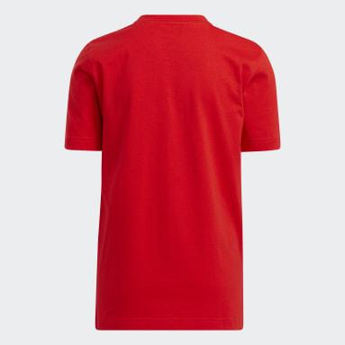 เด็ก บาสเกตบอล สีแดง เสื้อยืด adidas x LEGO® Damian Lillard