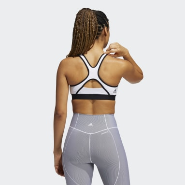 Sujetador Believe This Medium-Support Workout Logo Blanco Mujer Trail Running