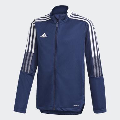 Børn Fodbold Blå Tiro 21 træningsjakke