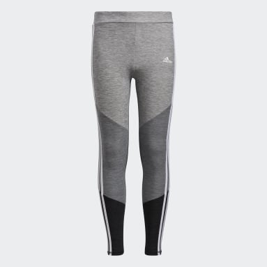 Youth Running Black Colorblock Mélange Tights