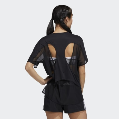 Women Running Black Luxe Training T-Shirt