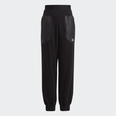 Girls Gym & Training Black Warm-Up Dance Move Comfort Cotton Relaxed Low Crotch Joggers