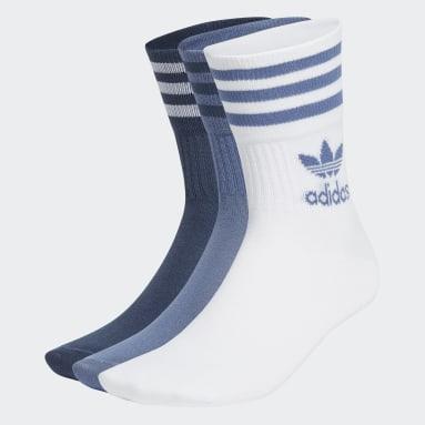 Originals Blue Mid Cut Crew Socks 3 Pairs